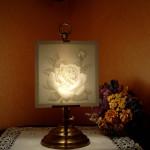 LT2-PLP 2275 Lithophanietischlampe klein+ Motiv Rose