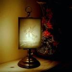 LT 2  / PLP 1054 Tischlampe klein + Motiv -Erwachen des Tages