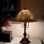 Leuchtenfuß H2/dunkel + 2631/0  Höhe 43cm