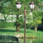 Ständerlampe AL 6603 H=307cm  2xE27/100W  65Kg