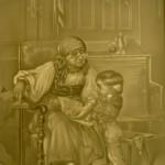 PLP 1786 Leseübung mit der Großmutter H=13 B=11cm