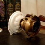 Deckenlampe mit Porzellanfuß groß
