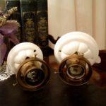 Deckenlampe mit Porzellanfuß groß und klein
